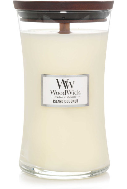 WOOD WICK  bougie island coconut large