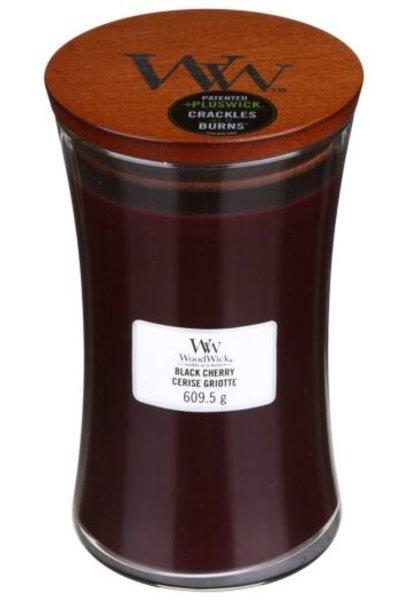 WOOD WICK  bougie cerise noir large
