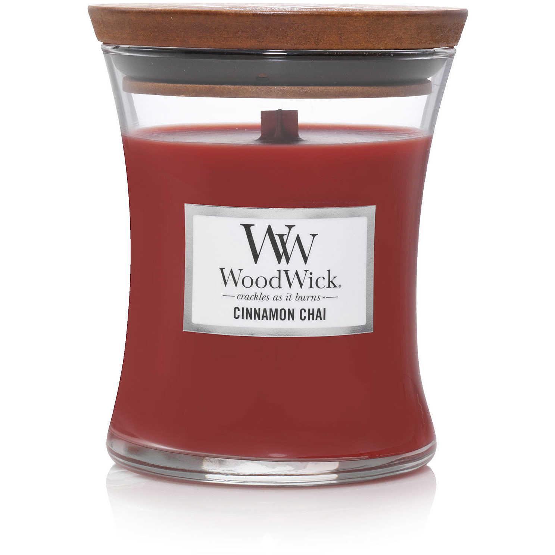 WOOD WICK  bougie cinnamon chai medium-1
