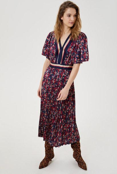 LIU JO robe midi plissée