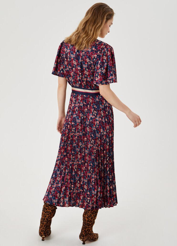 LIU JO robe midi plissée-2