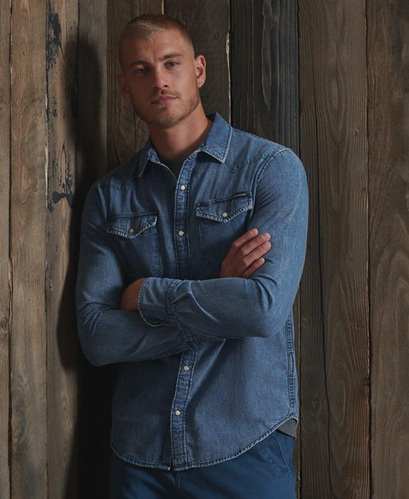 SUPERDRY chemise jeans  resurrection-1