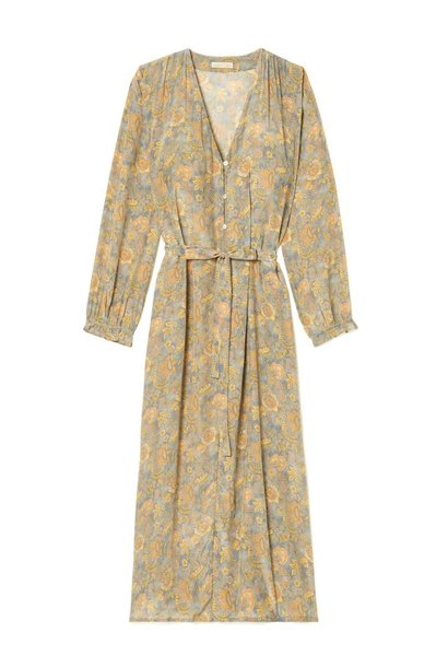 Robe Rama Grey California Flowers