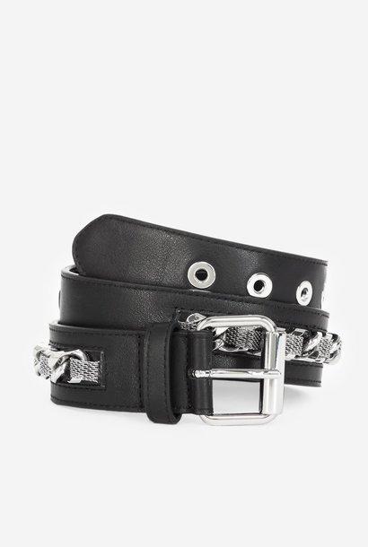 THE KOOPLES ceinture cuir classique détail chaîne