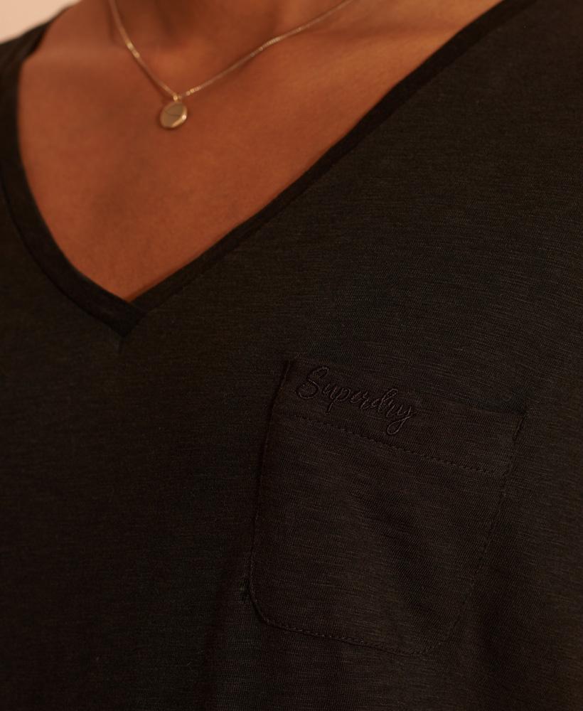 SUPERDRY t-shirt à col en v-3