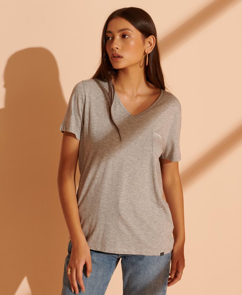 SUPERDRY t-shirt à col en v-5