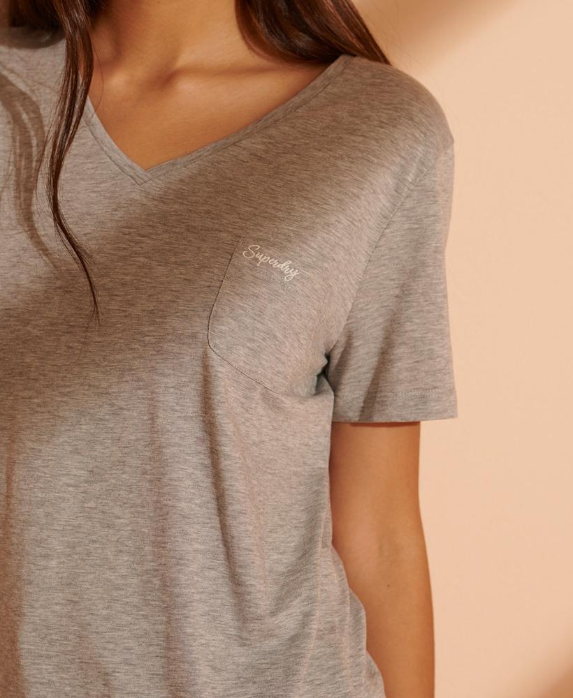 SUPERDRY t-shirt à col en v-8