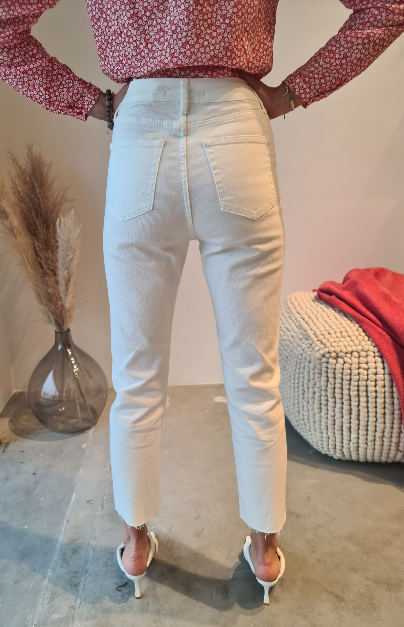 MARYLINE jeans blanc-2