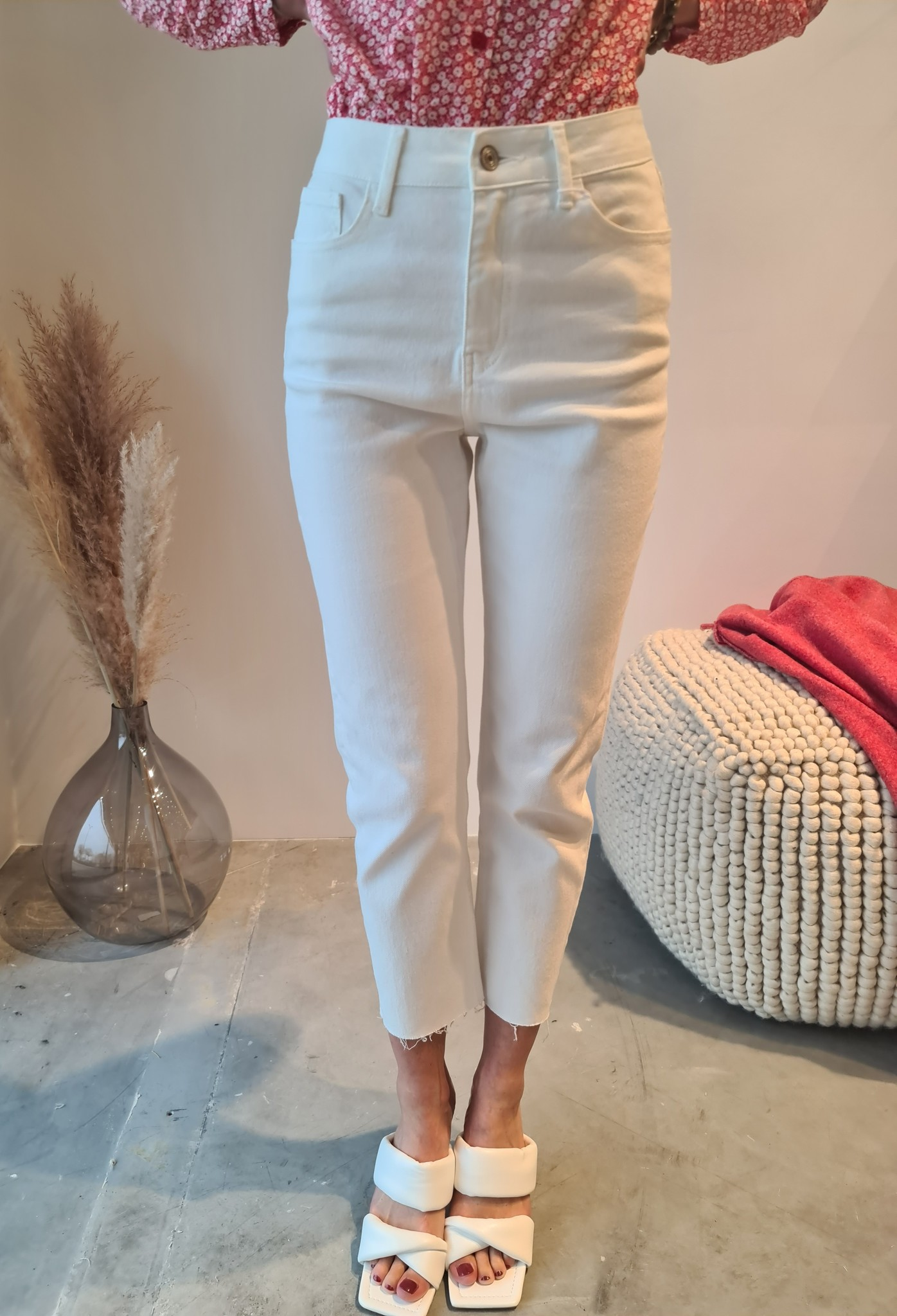 MARYLINE jeans blanc-3