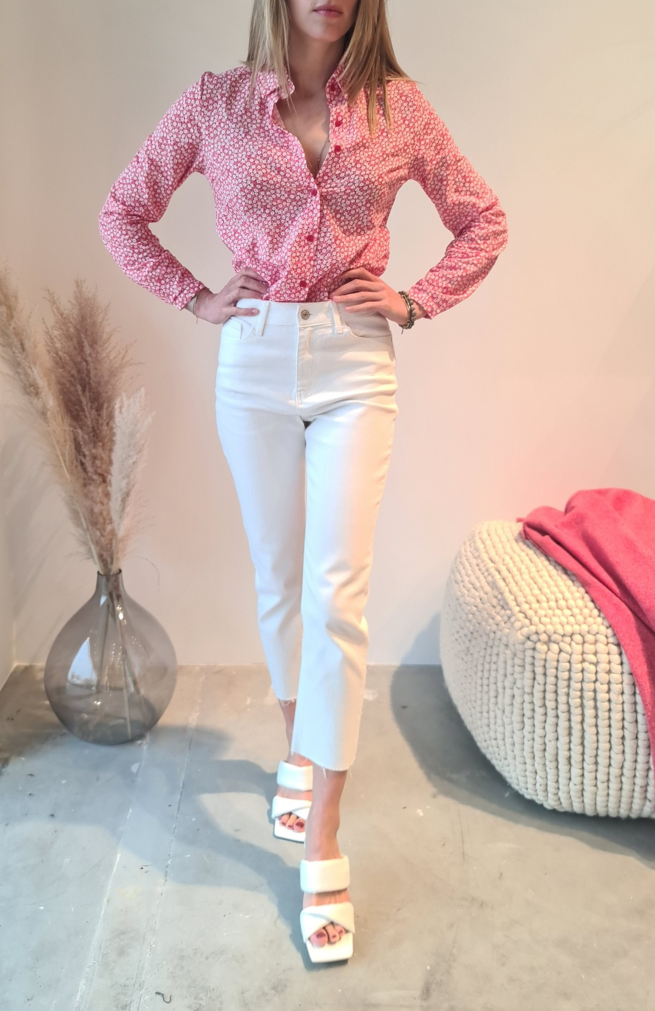MARYLINE jeans blanc-1