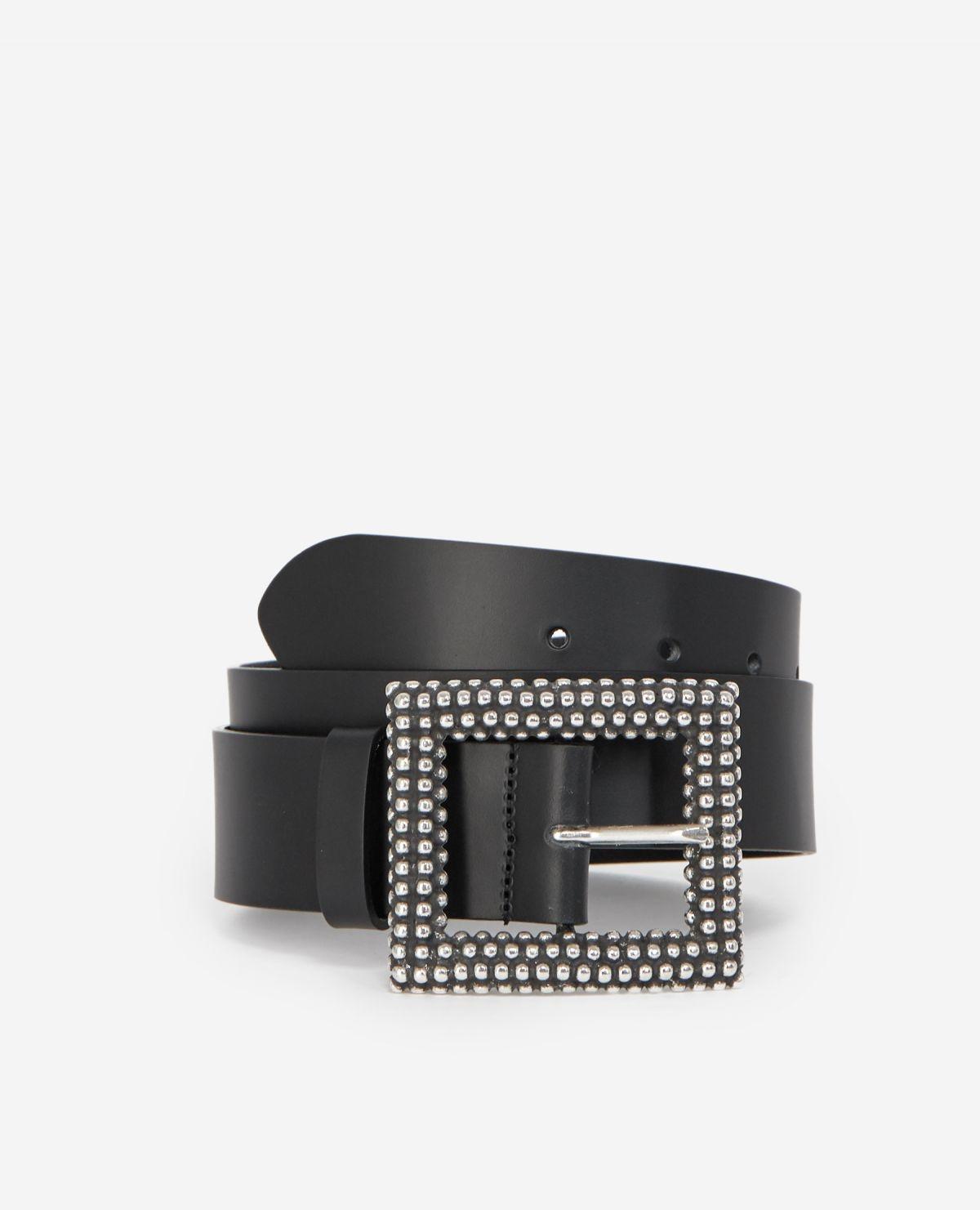 THE KOOPLES ceinture cuir classique detail clous-1
