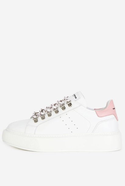 THE KOOPLES  baskets cuir blanches
