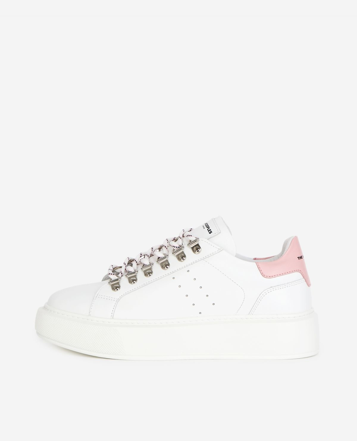 THE KOOPLES  baskets cuir blanches-1