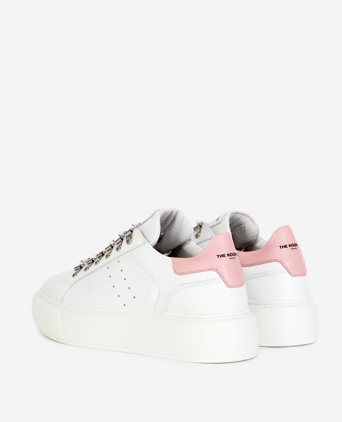 THE KOOPLES  baskets cuir blanches-3