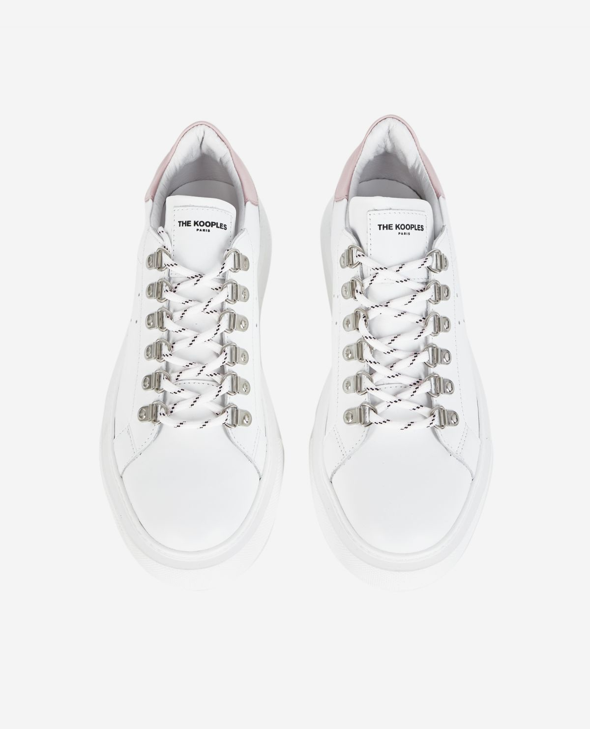 THE KOOPLES  baskets cuir blanches-4