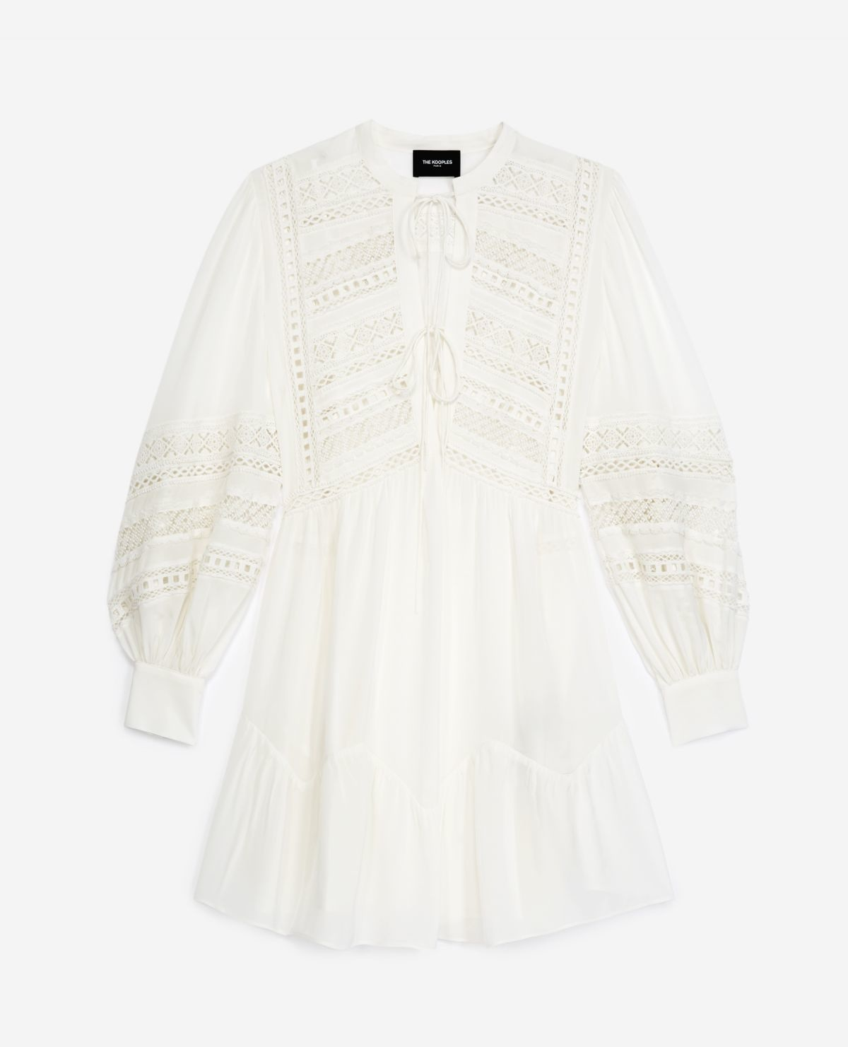 THE KOOPLES robe courte blanche-1