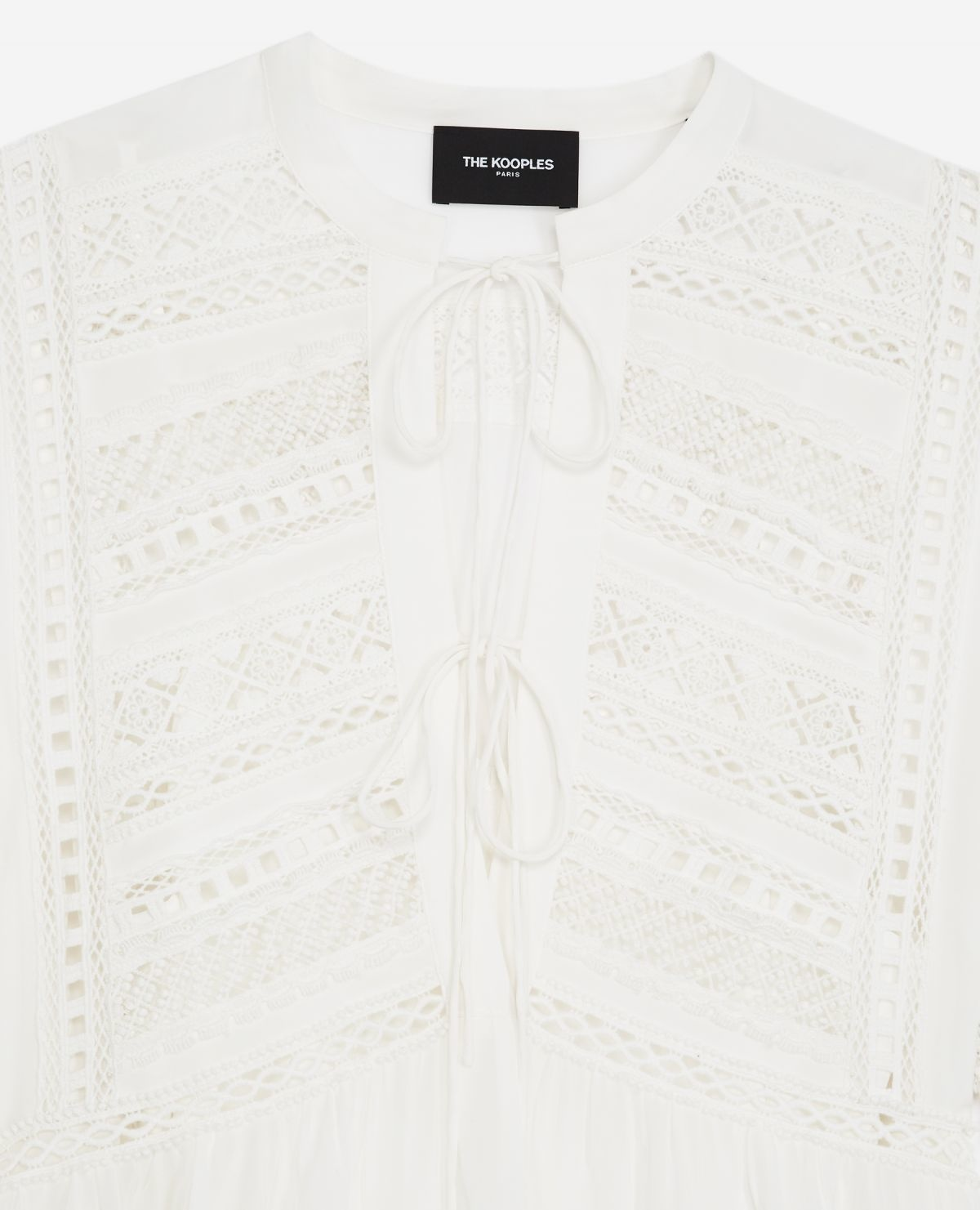 THE KOOPLES robe courte blanche-3