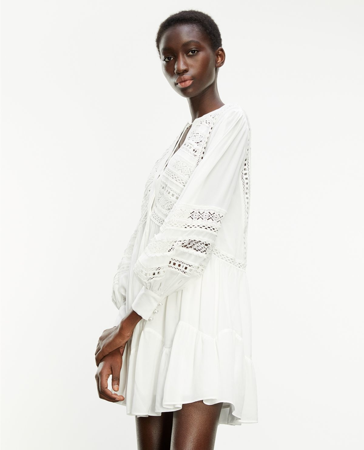 THE KOOPLES robe courte blanche-6