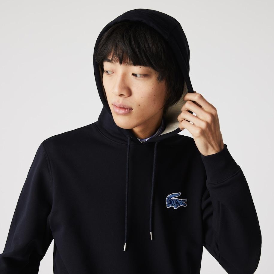 LACOSTE Sweatshirt à capuche avec badge-8