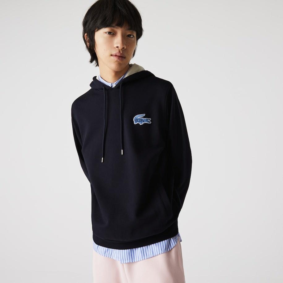 LACOSTE Sweatshirt à capuche avec badge-9