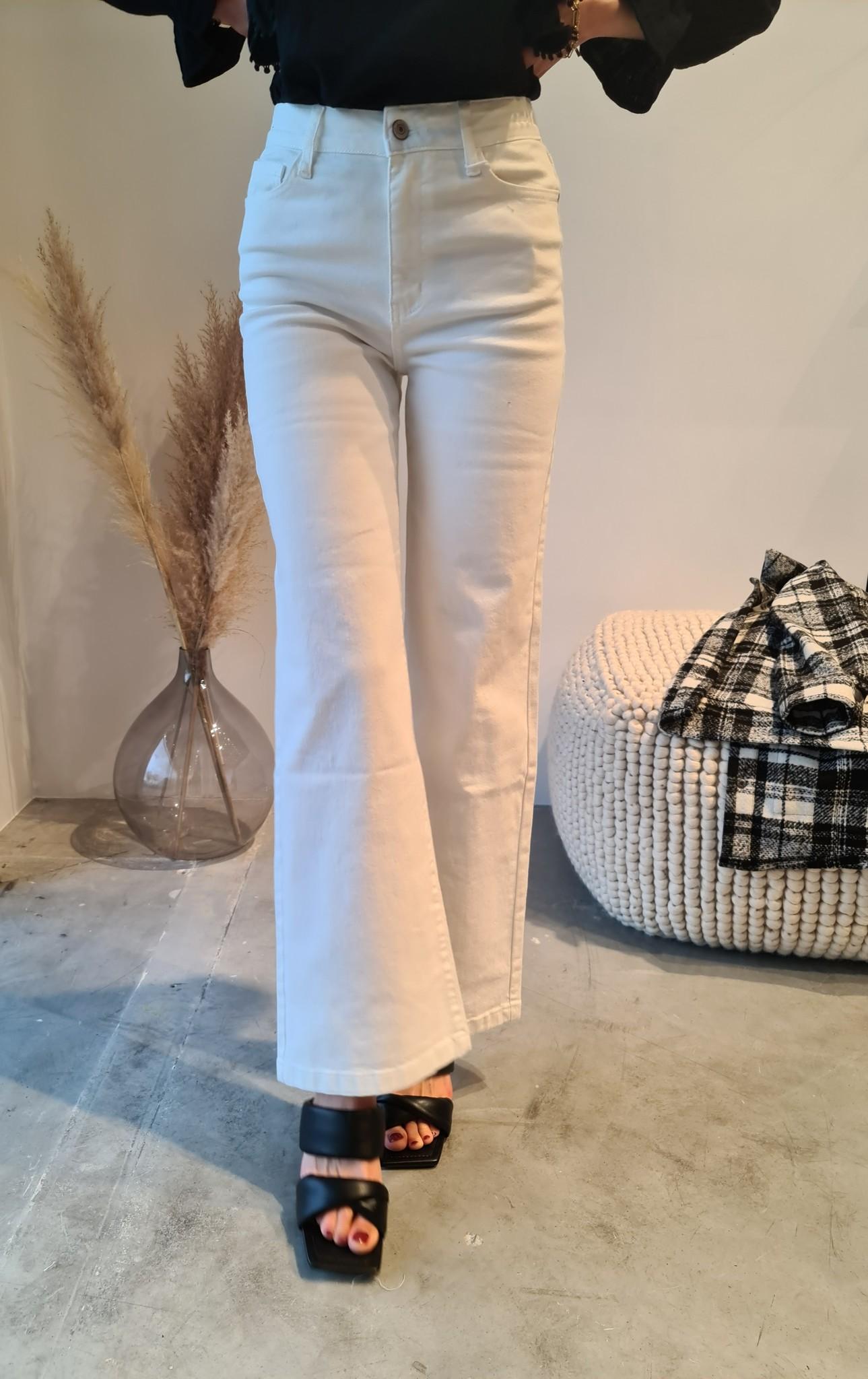 BARBARA jeans blanc-1