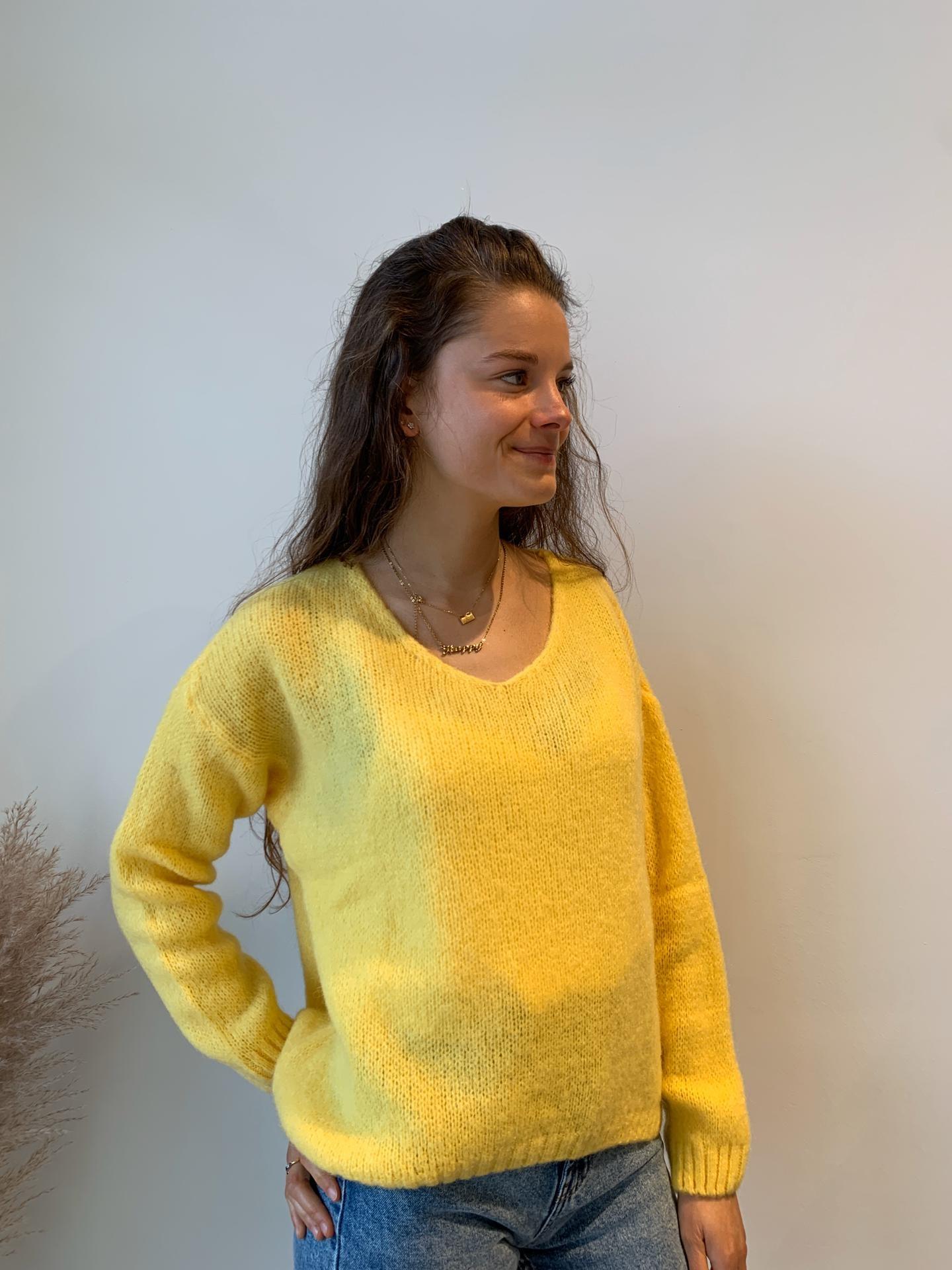 NELLY pull jaune-1