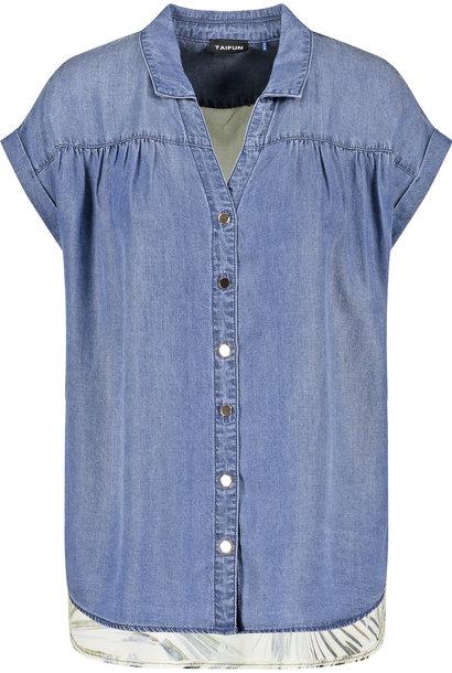 TAIFUN blouse en jean