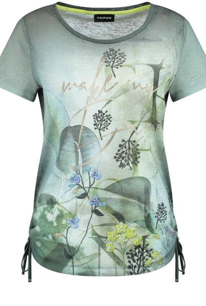 TAIFUN t-shirt avec fronces latérales