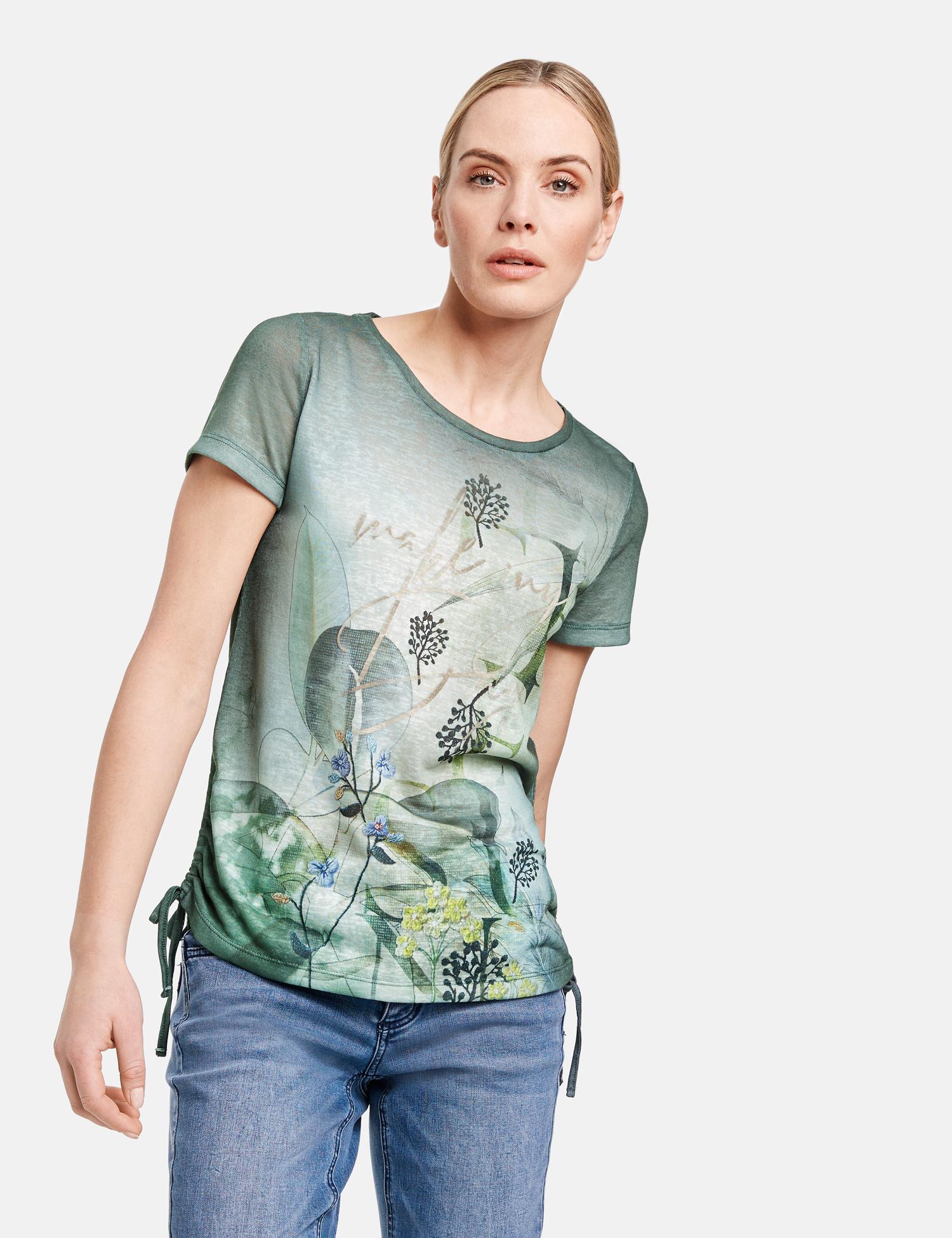 TAIFUN t-shirt avec fronces latérales-2