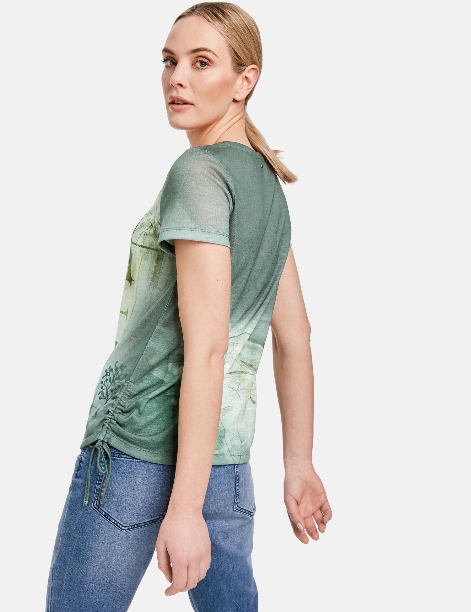TAIFUN t-shirt avec fronces latérales-4