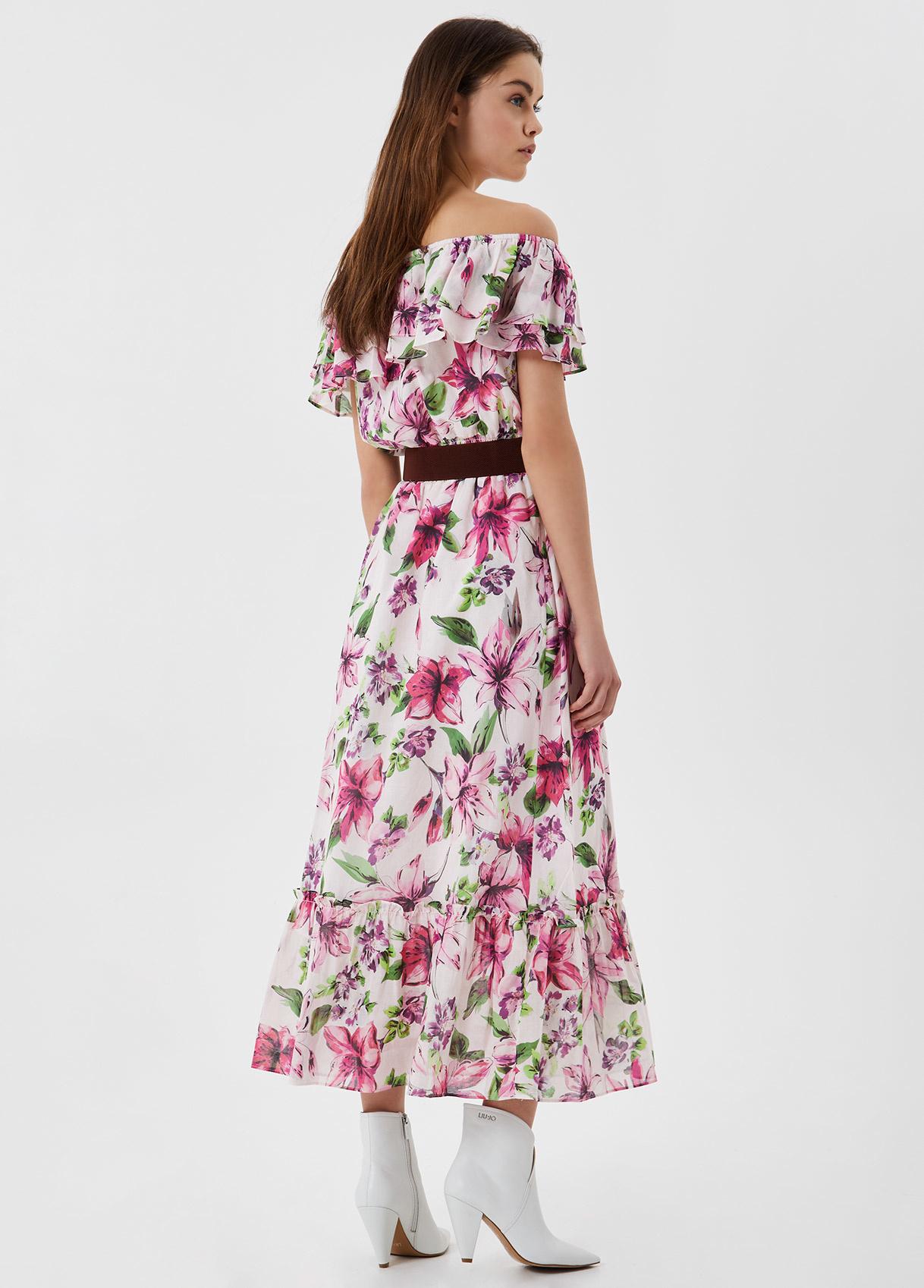 LIU JO robe longue avec ceinture-4