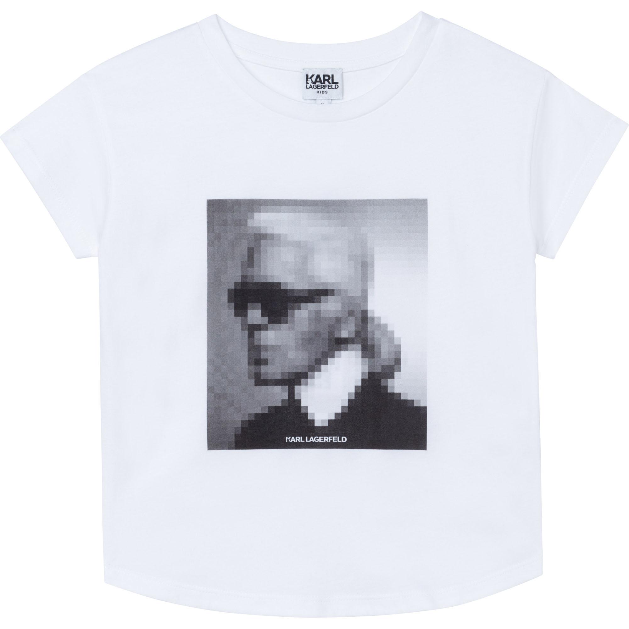KARL LAGERFELD KIDS  t-shirt en jersey-1