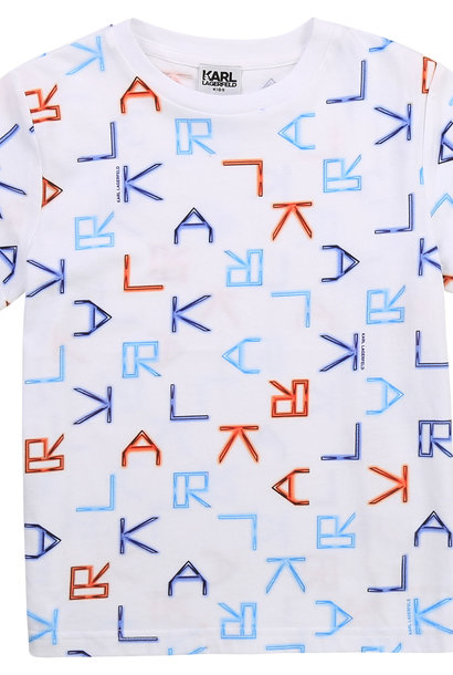 KARL LAGERFELD  KIDS  t-shirt logo tetris