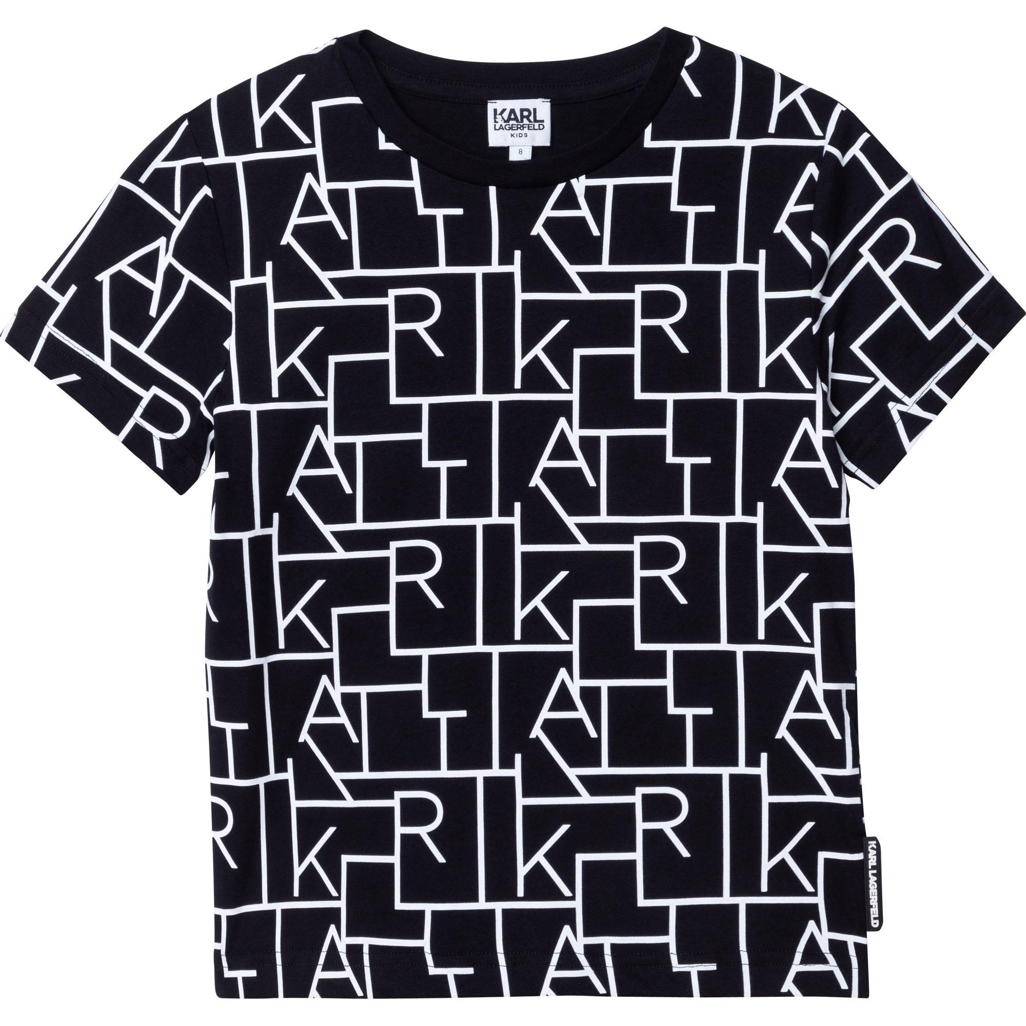 KARL LAGERFELD  KIDS t-shirt dessin lettres-1