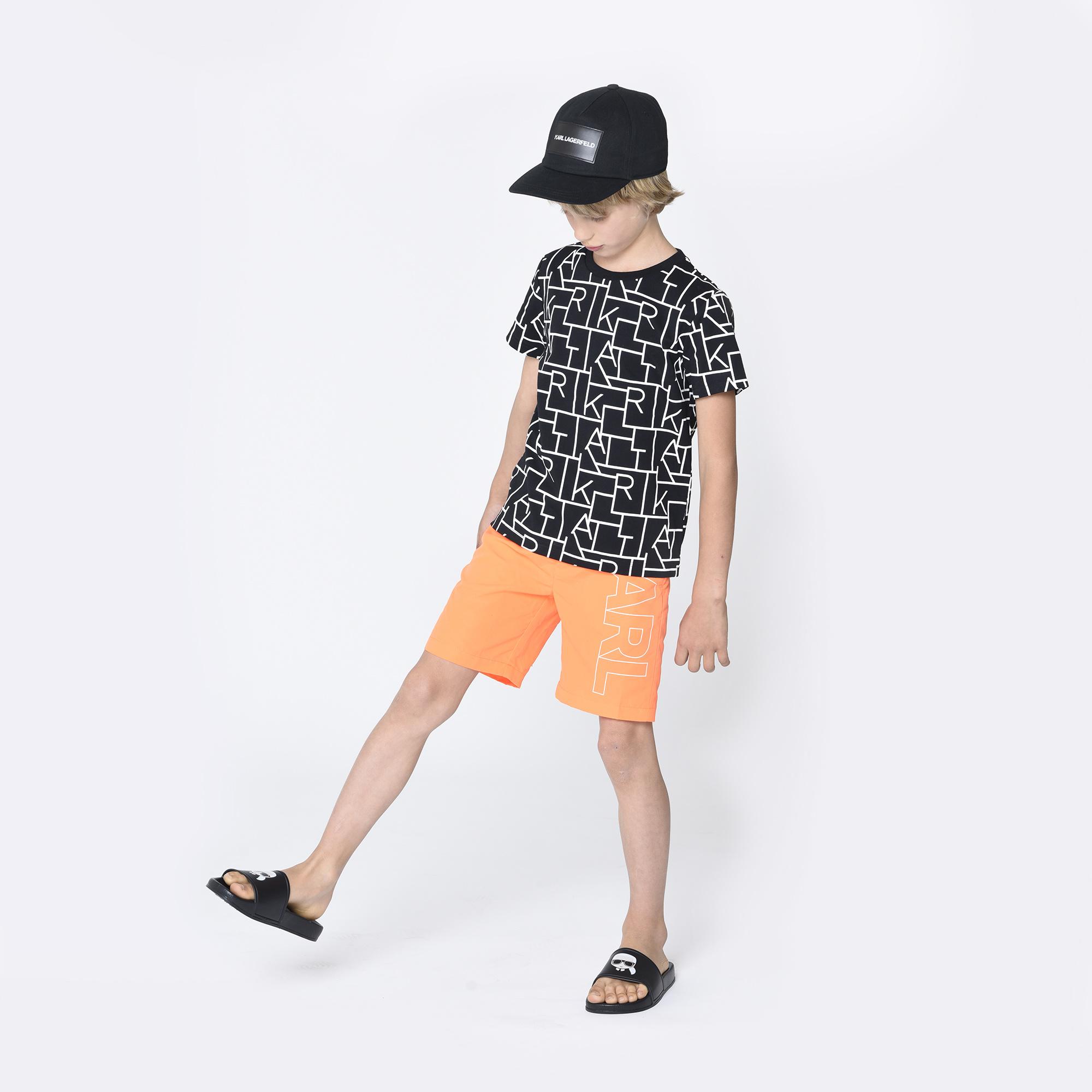 KARL LAGERFELD  KIDS t-shirt dessin lettres-2