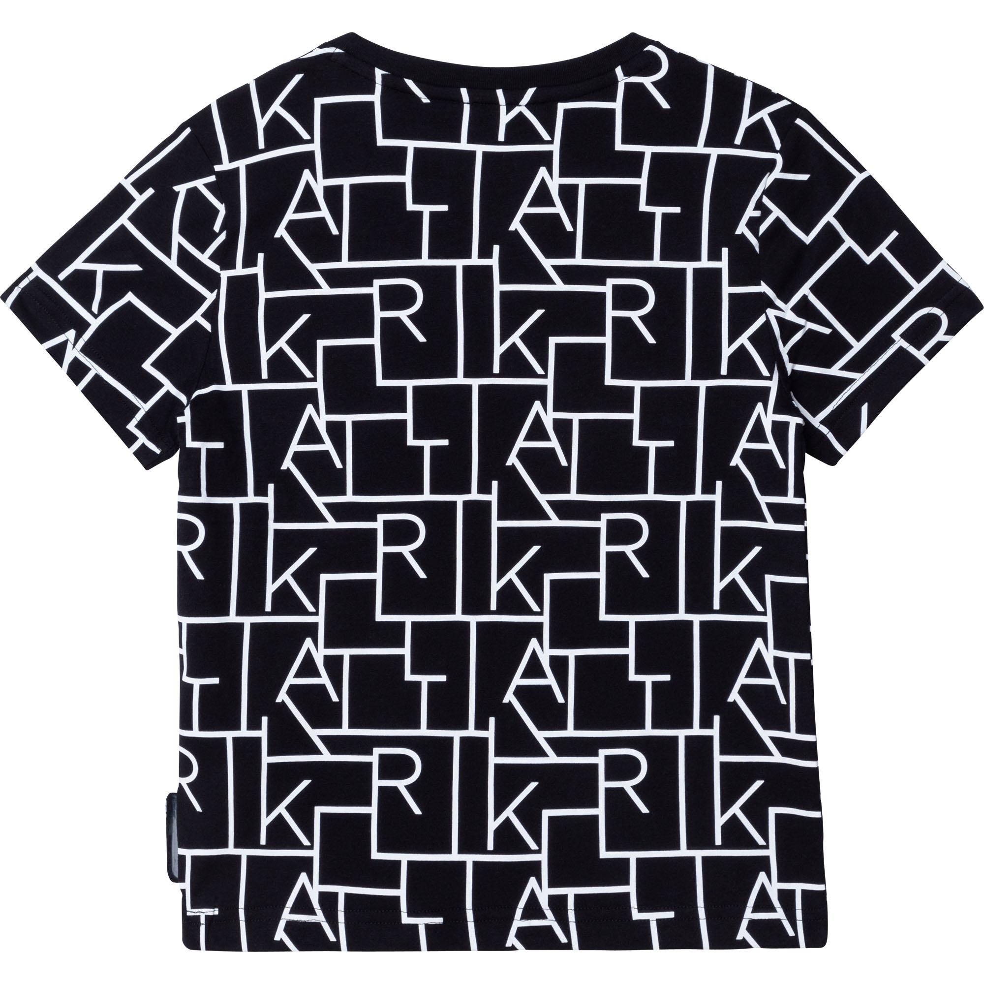 KARL LAGERFELD  KIDS t-shirt dessin lettres-3