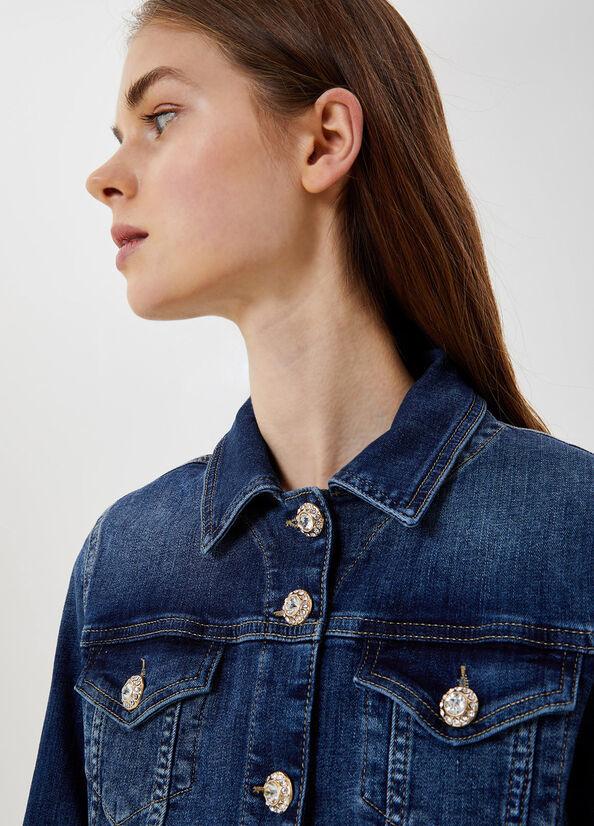 LIUJO Veste en jean avec boutons bijoux-3