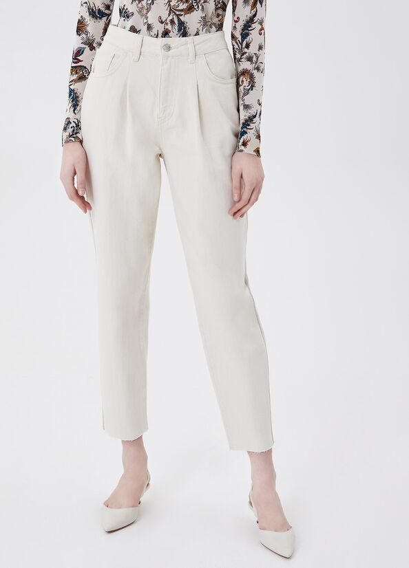 LIUJO Pantalon chino taille haute-1