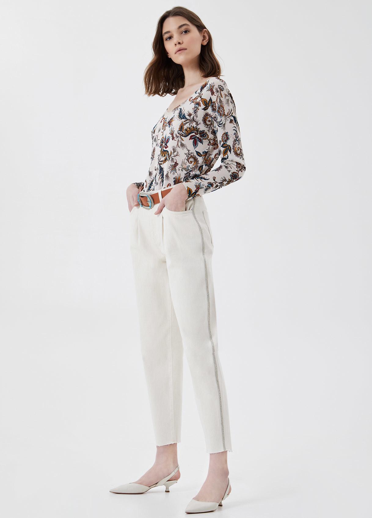 LIUJO Pantalon chino taille haute-4