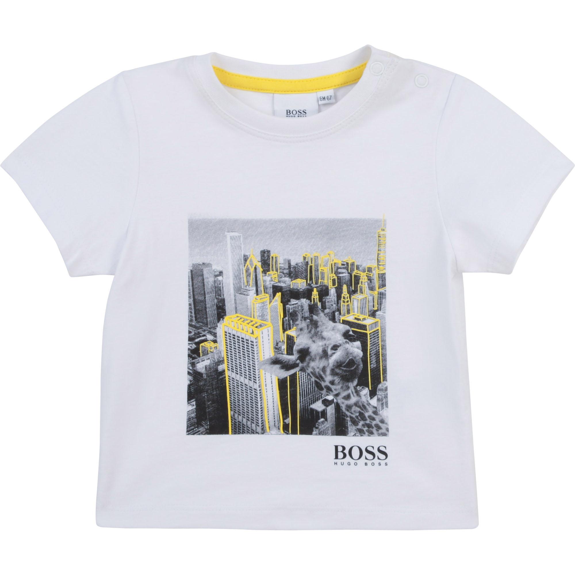 BOSS t-shirt en jersey de coton-1