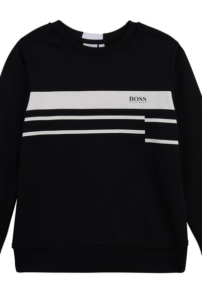 BOSS  sweat shirt avec lignes et logo
