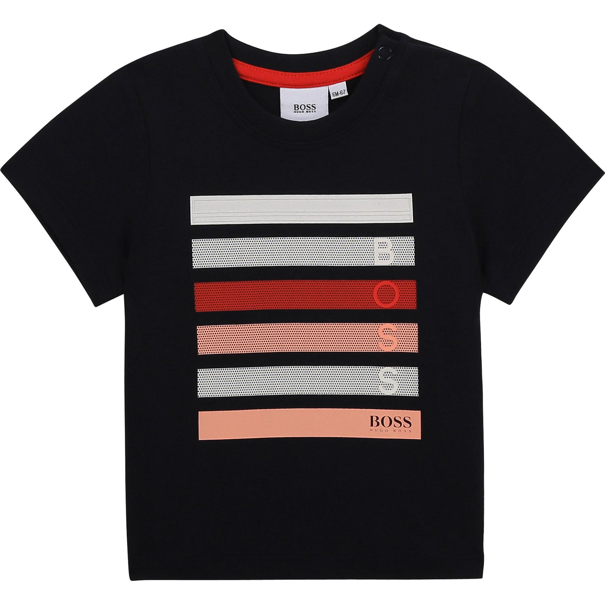 BOSS  t-shirt avec grosses lignes-1