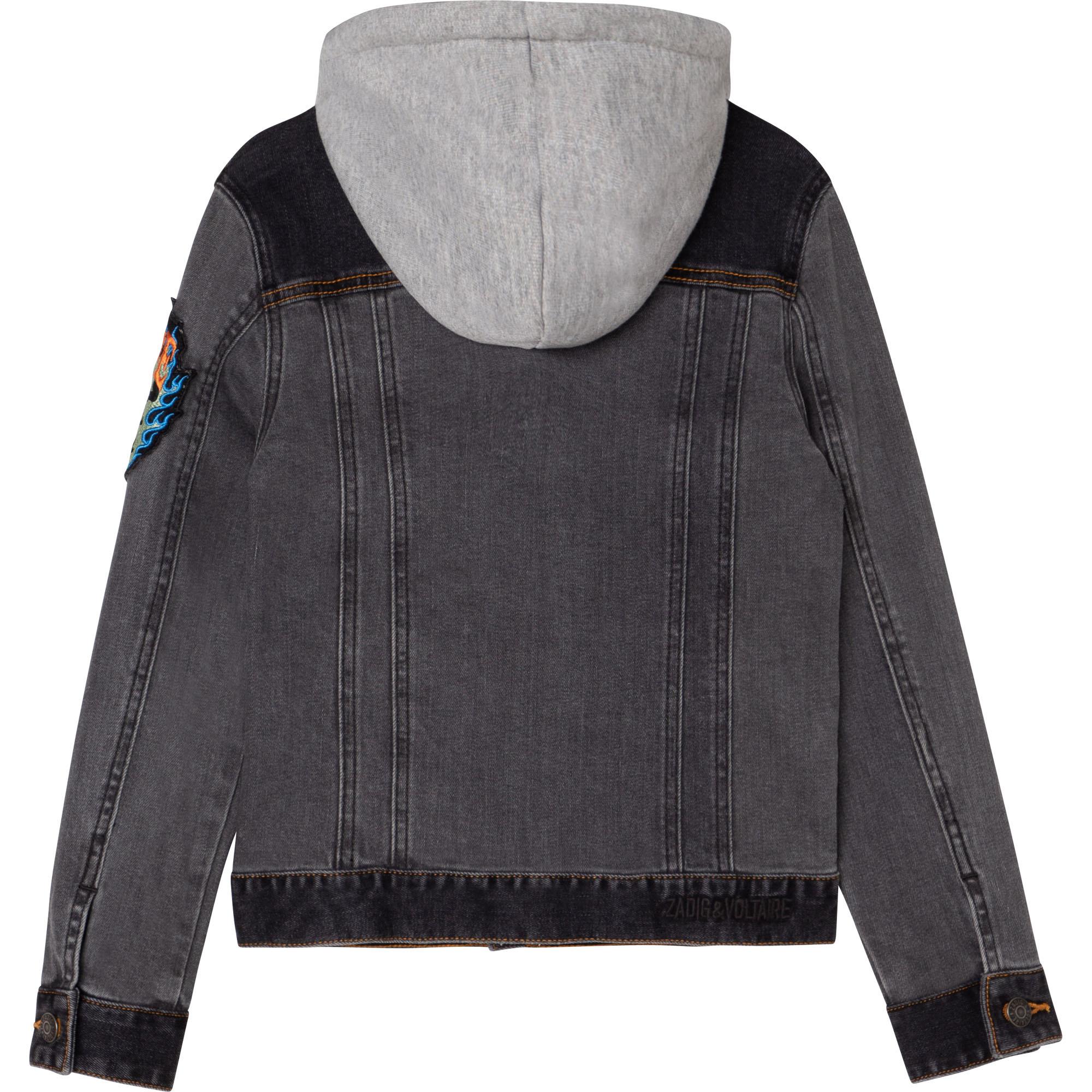 ZADIG&VOLTAIRE veste denim coton à capuche-3