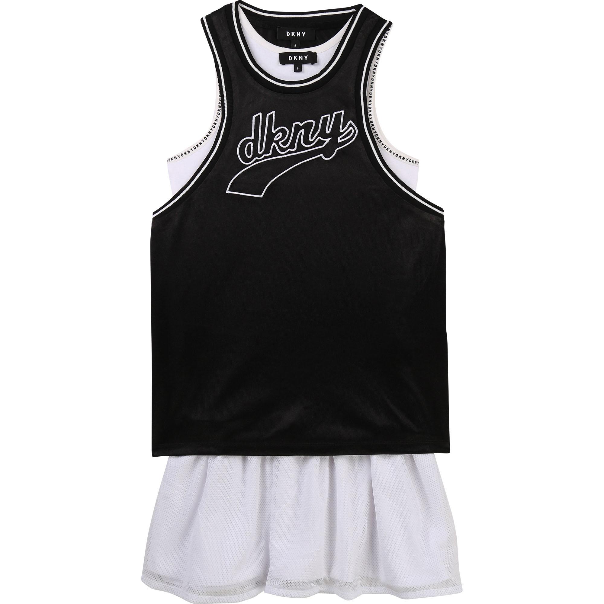 DKNY robe 2 en 1 avec patch brodé-1