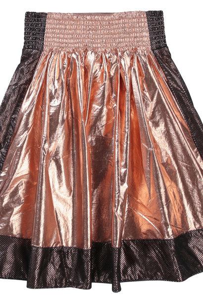 DKNY jupe évasée avec mesh et patch
