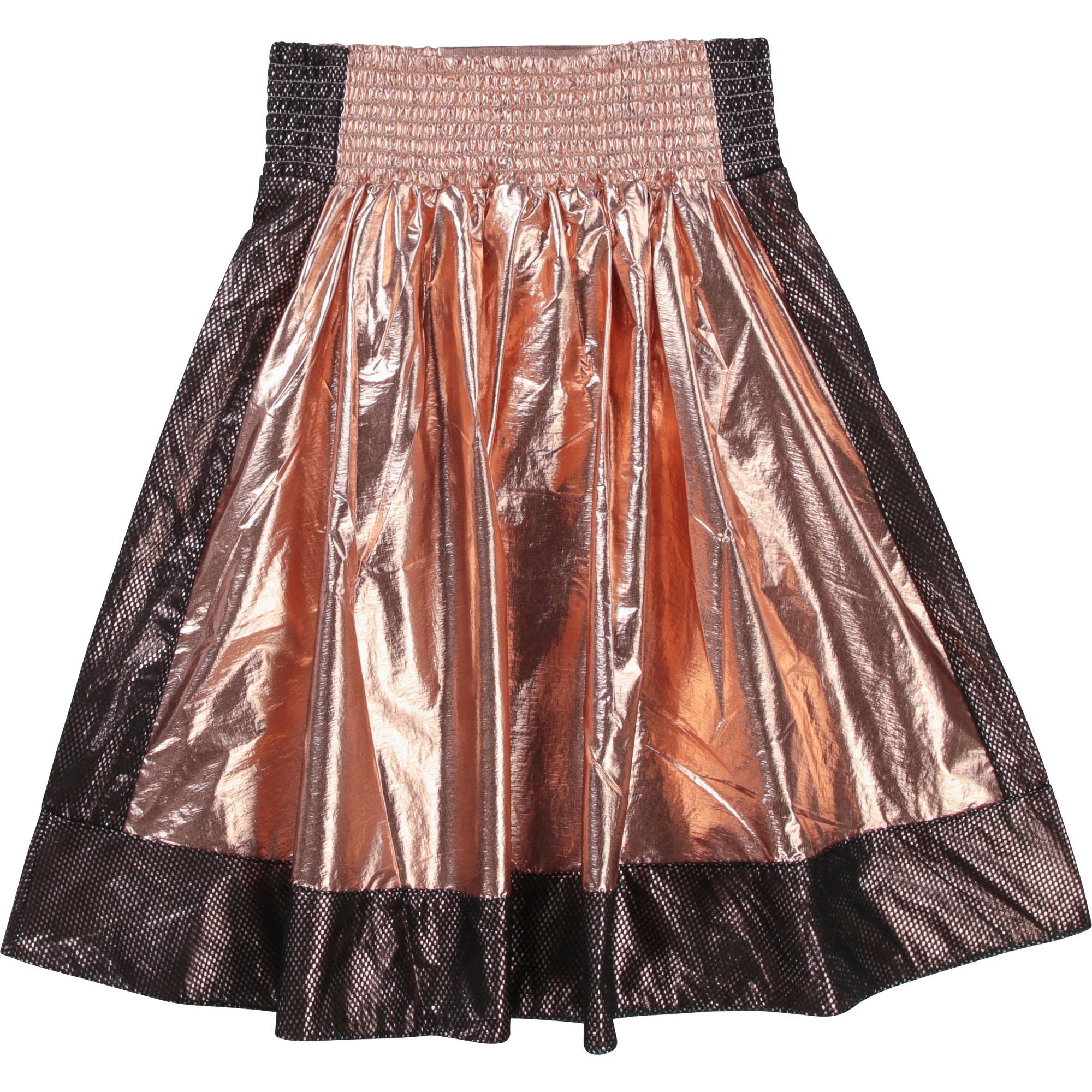 DKNY jupe évasée avec mesh et patch-1