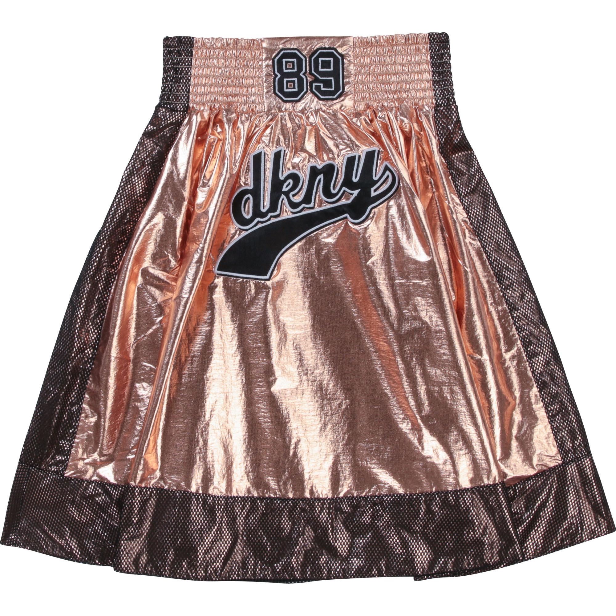 DKNY jupe évasée avec mesh et patch-2