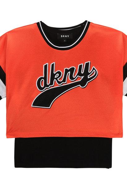 DKNY t-shirt + top jersey brillant