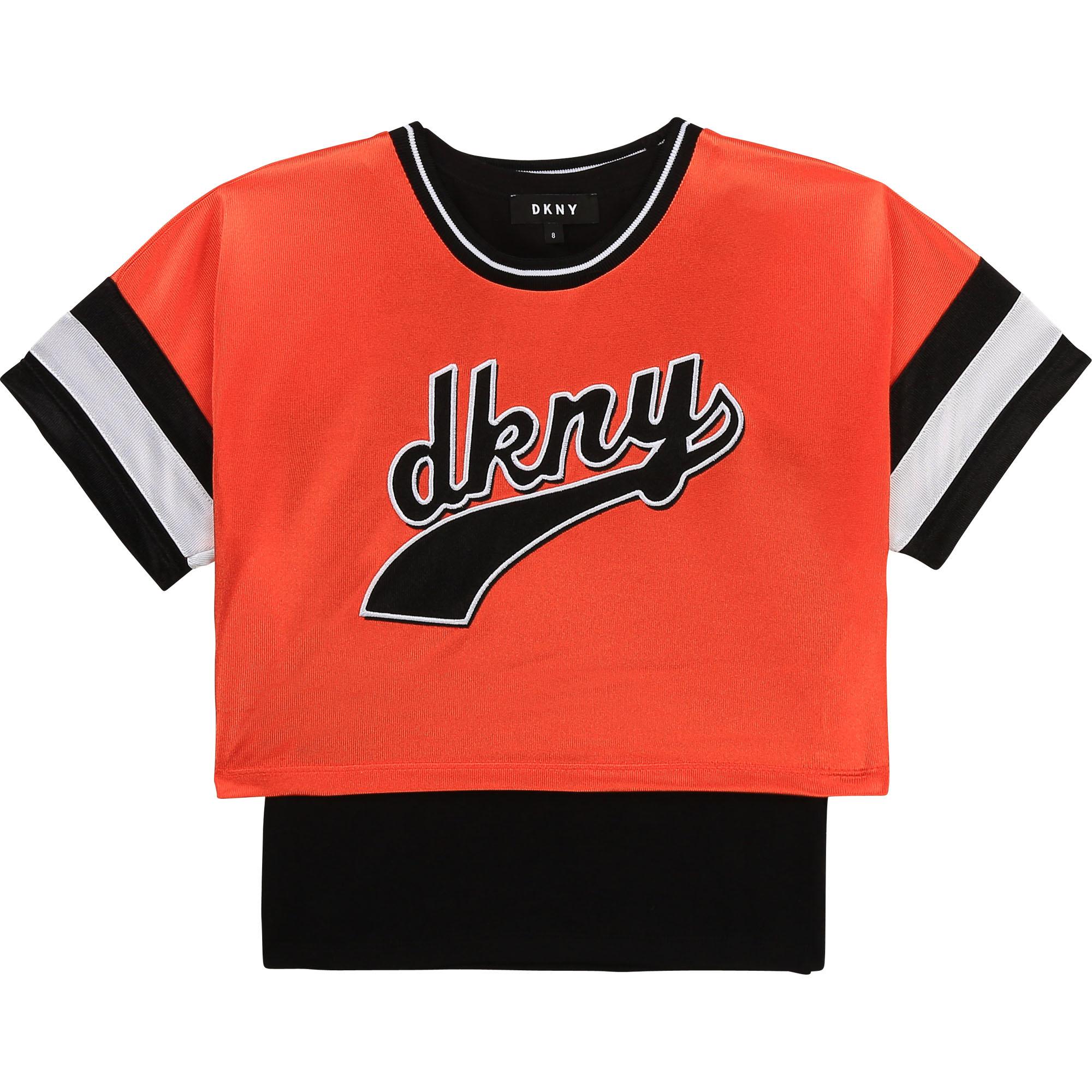 DKNY t-shirt + top jersey brillant-1