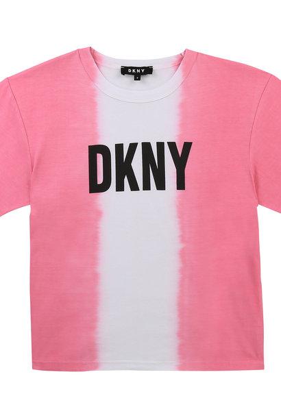 DKNY t-shirt en coton dip dye